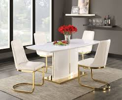 Coaster Dining Room Sets Cornelia High Gloss White Dining Room Set From Coaster Coleman