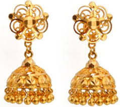 gold jewellery wedding designs earring