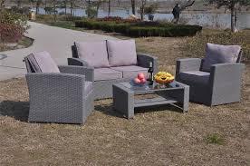 Yakoe Garden Furniture Yakoe 4 Piece Rattan Garden Furniture Sofa Set Table And Chairs