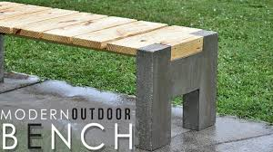 Concrete Table And Benches Making A Modern Outdoor Concrete Wood Bench Youtube