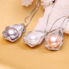 pearl pendant necklace silver images Fenasy charm shell design pearl jewelry pearl necklace pendant jpg