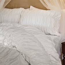 Dkny Duvet Cover White Ruched Bedding The Sutter White Crane U0026 Canopy