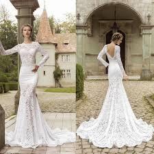 lace backless mermaid wedding dresses dress images