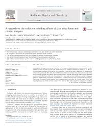 a research on the radiation shielding effects of clay silica fume