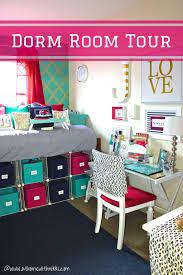 College Desk Organization by At Home With Nikki College Dorm Room Tour U0026 Organization