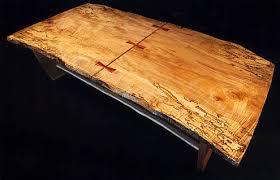 Custom Coffee Table by Custom Spalted Maple Slab Coffee Table Dumond U0027s Custom Furniture