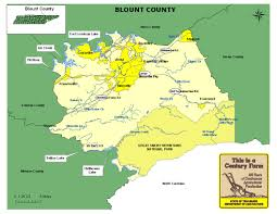 Tennessee State Parks Map by Blount County Tennessee Century Farms