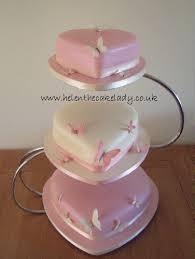 heart shaped wedding cakes pink ivory heart shaped wedding cake 3 tier sponge heart flickr