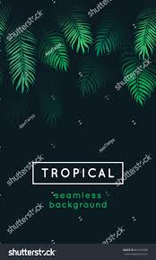 Exotic Theme Tropical Leaves Exotic Tree Foliage Green Stock Illustration