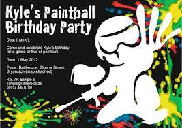 4 perfect paintball party invitation template free srilaktv com