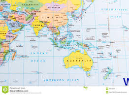 New Zealand And Australia Map China And Australia Stock Image Image 29270041