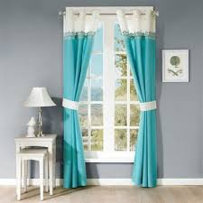Teal Window Curtains Park Nisha Embroidered Window Curtain Teal For The Teal