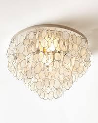 capiz flush mount light aurora flush mount ceiling fixture neiman marcus