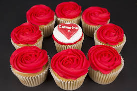 Personalised Cupcakes Personalised Red Rose Vanilla Cupcakes Valentines Day Gifts