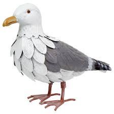 samuel the large seagull garden metal sculpture ornament gardens2you