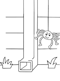 itsy bitsy spider coloring free printable coloring pages