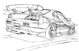 coloring pages drifting cars s15 drift trace by mechanicalr on deviantart