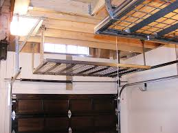 black metal overhead garage storage shelves for small garage black metal overhead garage storage shelves for small garage spaces with wood ceiling beams after remodel ideas