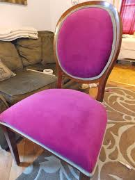 Home Decorators Chairs Refurbished With Love U0027s Whimsical Pink Dog Chairs U2014 Refurbished