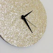 unique wall clock gold glitter clock great gatsby home and