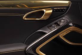 porsche stinger porsche 911 turbo stinger gtr by topcar has 24k gold interior