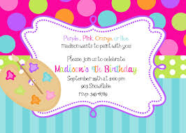 12 art painting party birthday invitations with envelopes art