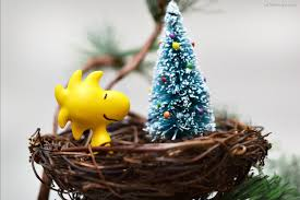 woodstock nest ornament as the bunny hops