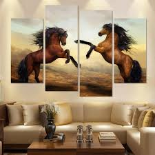 Canvas Prints Home Decor by Hd Canvas Prints Home Decor Wall Art Painting Horse Modern Art