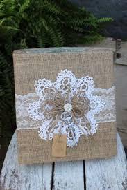 burlap photo album sunflower wedding album instant photo guestbook burlap scrapbook