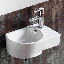 bathroom sink with side faucet glidden vitreous china wall mount bathroom sink right side faucet
