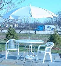 Vinyl Patio Umbrella Vinyl Patio Umbrella 7 5 W Tilt Mechanism White