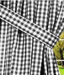 Black And White Checkered Curtains White Gingham Check Window Curtains