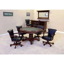 Poker Table Chairs Winslow 2 In 1 Octagonal Poker Table Hayneedle
