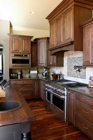 Stainless Steel Cabinets For Kitchen Witching Brown Wooden High End Kitchen Cabinets Features Double