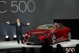 lexus drivers europe lexus lc 500 reveal akio toyoda