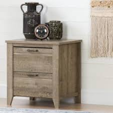 south shore munich 2 drawer weathered oak nightstand 10493 the