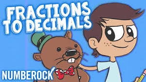 converting fractions to decimals song by numberock youtube