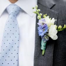 blue boutonniere blue wedding boutonnieres