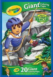 crayola giant coloring pages go diego go diego ultimate rescue