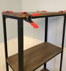 Self Assembly Bookshelves by Ikea Hack Wood And Metal Bookshelf Real Happy Space