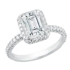 platinum halo engagement rings marisa perry micro pave emerald cut halo engagement ring