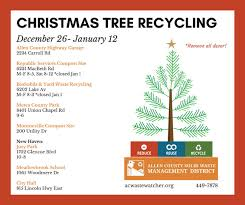 tree recycling open now until january 12 wane
