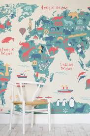 Map Wallpaper Educational Map Wallpapers The Perfect Kids U0027 Bedroom Idea