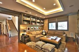 Recessed Lighting Ceiling Family Room Using Rope Tray Ceiling And Recessed Lights Subtle