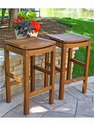 outdoor bar stools eucalyptus bar height stools set 2