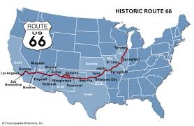 map us highway route 66 route 66 highway united states britannica