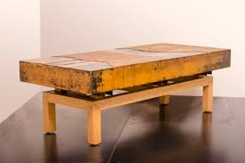 hand crafted industrial steel coffee table metal mix graft wood
