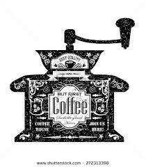 vintage style cafe menu coffee grinder stock vector 272313398