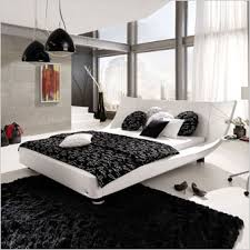 scan design black and white combination house bed
