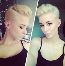 very short pixie hairstyle with saved sides short shaved pixie cut hair color ideas and styles for 2018